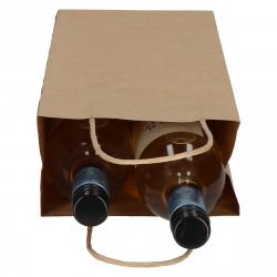 Wijntassen - Bruin - Gedraaid papieren handgreep - Gebruik