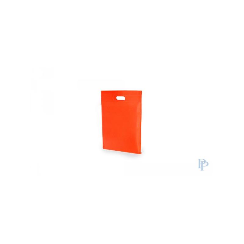 Non Woven Tassen - Oranje - Uitgesneden handvaten - Vooraanzicht