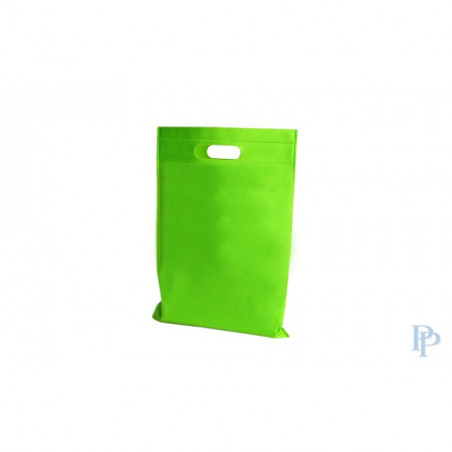 Non Woven Tassen - Groen - Uitgesneden handvaten