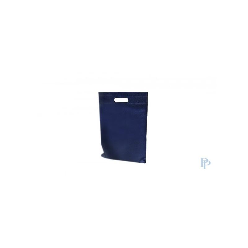 Non Woven Tassen - Blauw - Uitgesneden handvaten - Vooraanzicht