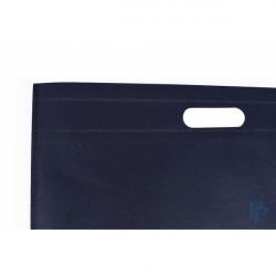 Non Woven Tassen - Blauw - Uitgesneden handvaten - Detail