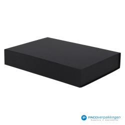Magneetdoos - Zwart Mat (Toscana) - Zijaanzicht voor dicht