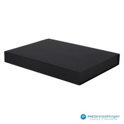 Magneetdoos A3 - Zwart Mat (Toscana) - Zijaanzicht voor dicht