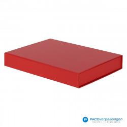 Magneetdoos A5 - Rood Mat (Toscana) - Zijaanzicht voor dicht