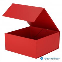 Magneetdoos - Rood Mat (Toscana) - Zijaanzicht voor open