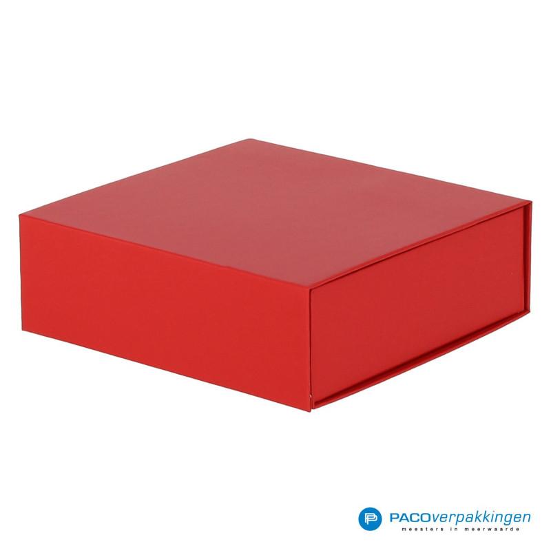 Magneetdoos - Rood Mat (Toscana) - Zijaanzicht voor dicht