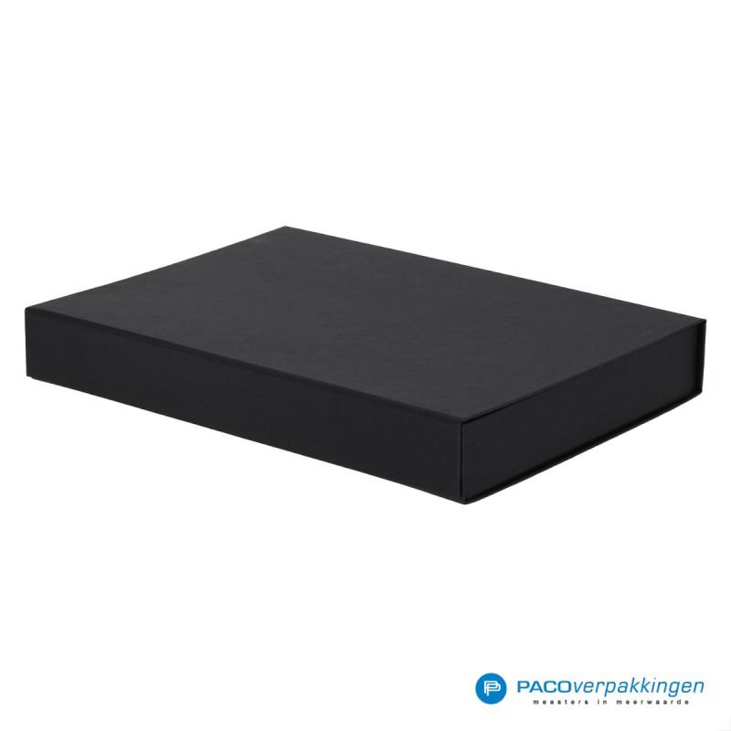 Magneetdoos A4 - Zwart Mat (Toscana) - Zijaanzicht dicht