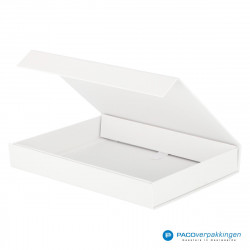Magneetdoos A5 - Wit Mat (Toscana) - Zijaanzicht open