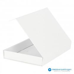 Magneetdoos A5 - Wit Mat (Toscana) - Zijaanzicht achter open
