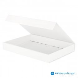 Magneetdoos A4 - Wit Mat (Toscana) - Zijaanzicht open