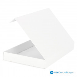 Magneetdoos A4 - Wit Mat (Toscana) - Zijaanzicht achter open