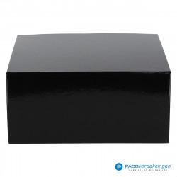 Magneetdoos - Zwart Glans (Toscana) - Vooraanzicht dicht