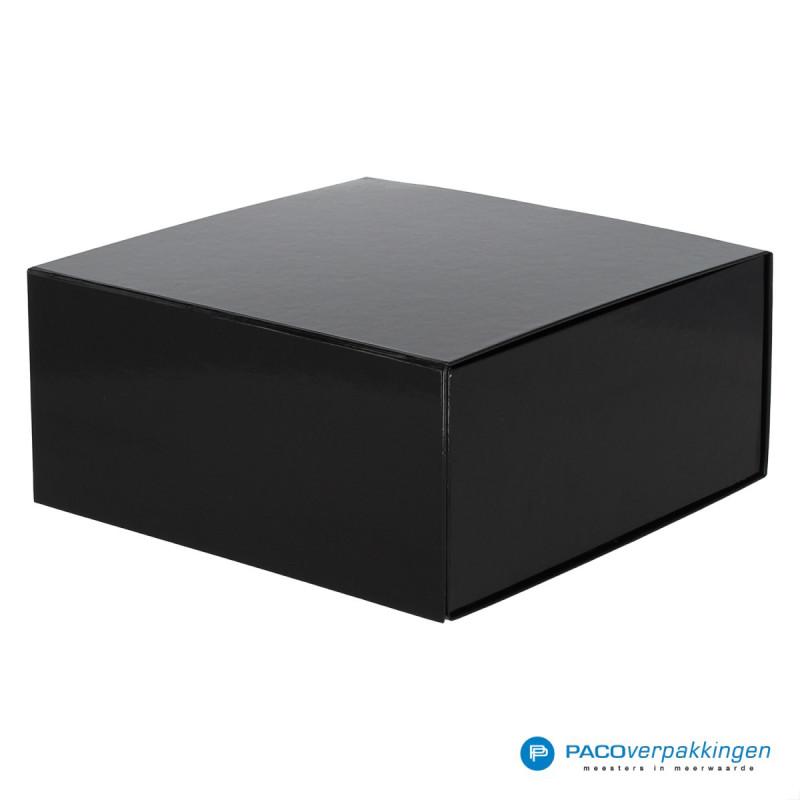Magneetdoos - Zwart Glans (Toscana) - Zijaanzicht dicht