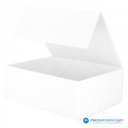 Magneetdoos - Wit Mat (Toscana) - Zijaanzicht voor open