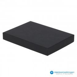 Geschenkdoos met deksel - Zwart Mat - A6 - Luxe - Zijaanzicht voor dicht