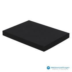 Geschenkdoos met deksel - Zwart Mat - A5 - Luxe - Zijaanzicht voor dicht