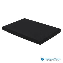 Geschenkdoos met deksel - Zwart Mat - A4 - Luxe - Zijaanzicht dicht