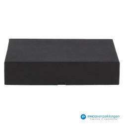 Geschenkdoos met deksel - Zwart Mat - Luxe - Vooraanzicht