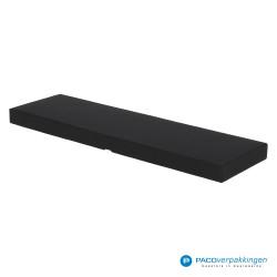 Stropdas verpakking - Zwart Mat - Luxe - Zijaanzicht dicht