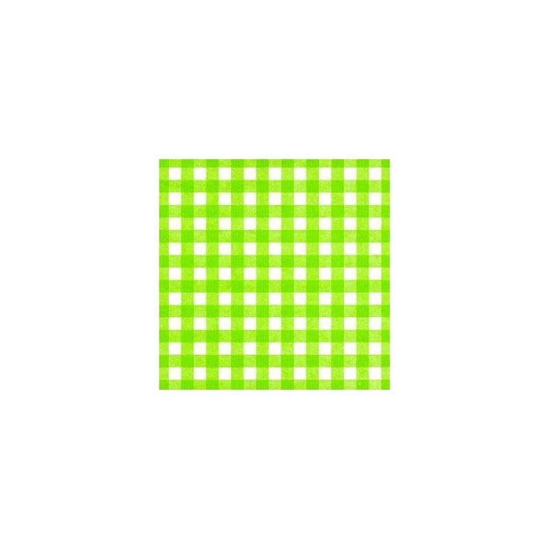 Inpakpapier - Ruiten - Groen (Nr. 1002) - Close-up