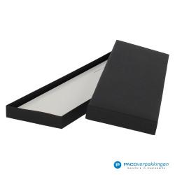 Stropdas verpakking - Zwart Mat - Luxe - Zijaanzicht achter open