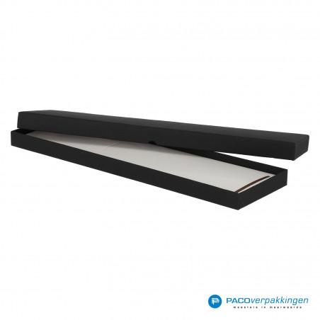 Stropdas verpakking - Zwart Mat - Luxe