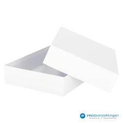 Geschenkdoos met deksel - Wit Mat - A4 - Luxe - Zijaanzicht open