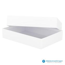 Geschenkdoos met deksel - Wit Mat - A4 - Luxe - Vooraanzicht open
