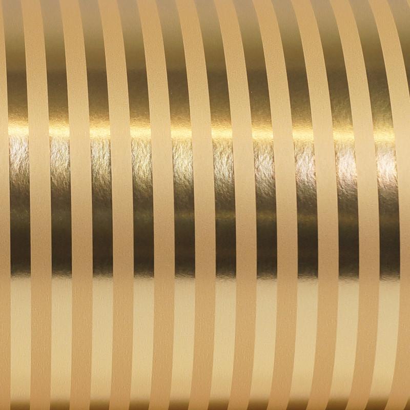 Inpakpapier - Strepen - Goud (Nr. Gp41) - Close-up