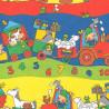 Inpakpapier - Dieren - Multikleur op rood (Nr. 480) - Close-up
