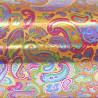 Inpakpapier - Retro - Multikleur op goud (Nr. Zp5) - Close-up