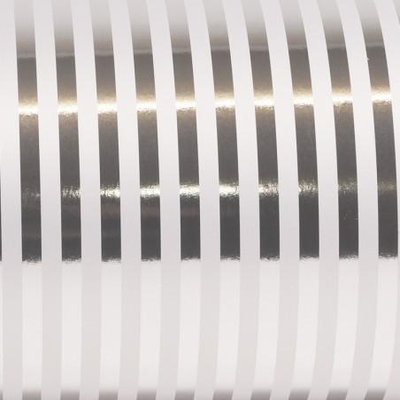 Inpakpapier - Strepen - Zilver (Nr. Zp12)