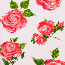 Zijdepapier - Rozen - Roze op wit - Close-up