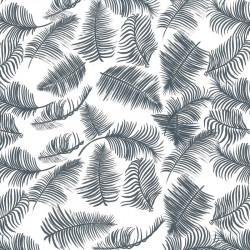 Inpakpapier - Bladeren - Zwart op wit (Nr. 181) - Close-up