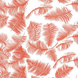 Inpakpapier - Bladeren - Rood op wit (Nr. 188) - Close-up