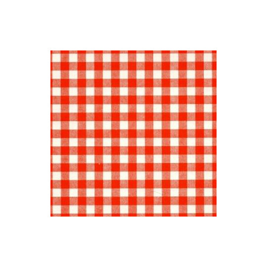 Inpakpapier - Ruiten - Rood  op wit (Nr. 1006)