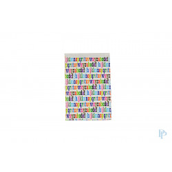 Papieren zakjes - Letters - Multicolour - Nr. 40.396 - Vooraanzicht