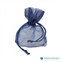 Organza zakjes - Royal Blue - Vooraanzicht