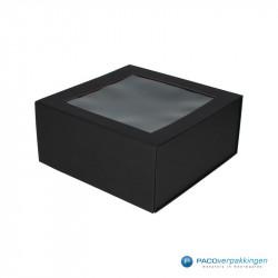 Magneetdoos - Zwart Mat (Toscana) - Vensterdoos - Zijaanzicht