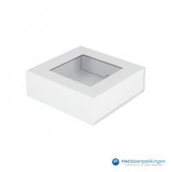 Magneetdoos - Wit Mat (Toscana) - Vensterdoos - Zijaanzicht