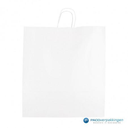 Papieren draagtassen - Wit - Gedraaide handgreep