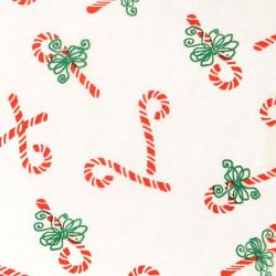 Zijdepapier - Snoep - Rood op wit - Close-up