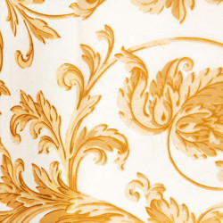 Zijdepapier - Barok bloemen - Goud op wit - Close-up
