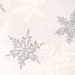 Zijdepapier - Sneeuwvlokken - Zilver op wit - Close-up