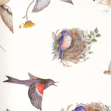 Zijdepapier - Vogels - Bruin op wit
