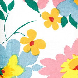 Zijdepapier - Bloemen - Multikleur op wit - Close-up