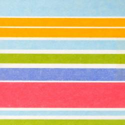 Zijdepapier - Strepen - Multikleur - Close-up