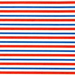 Zijdepapier - Strepen - Blauw en rood op wit - Close-up