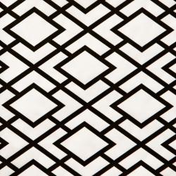 Zijdepapier - Geometrisch - Zwart op wit - Close-up