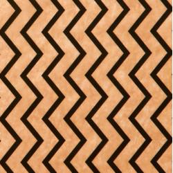 Zijdepapier - Kartels - Zwart op bruin - Close-up